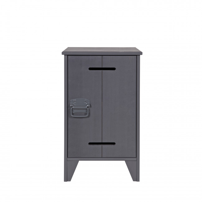 Table de chevet en pin fsc gris Jara