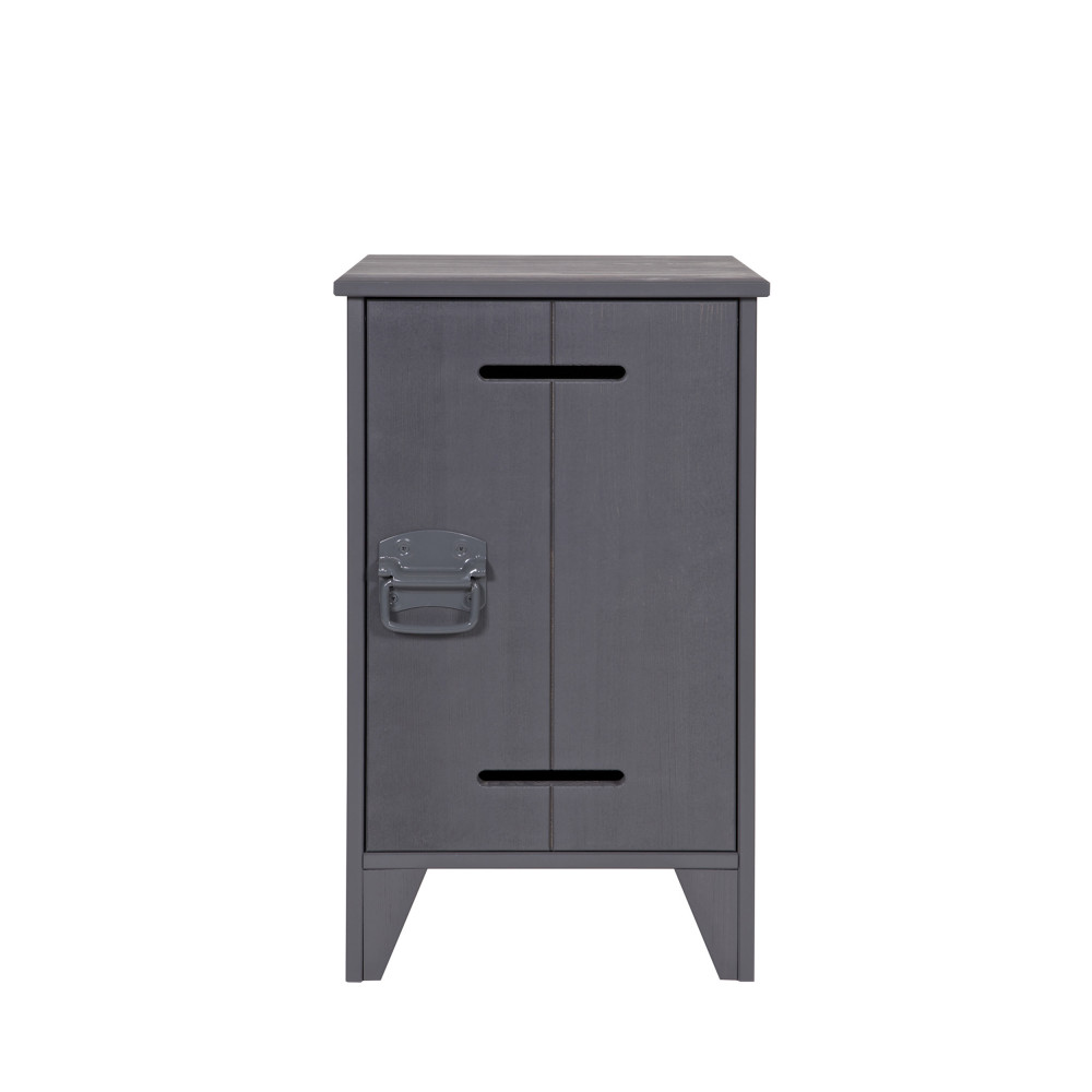table de chevet en pin fsc gris jara par drawer. Black Bedroom Furniture Sets. Home Design Ideas