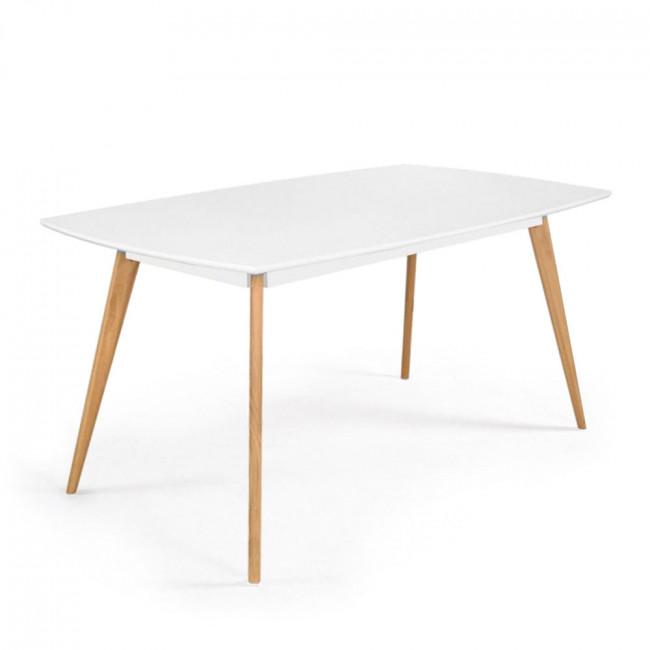 Table scandinave bois et laque Skoll Large 180cm