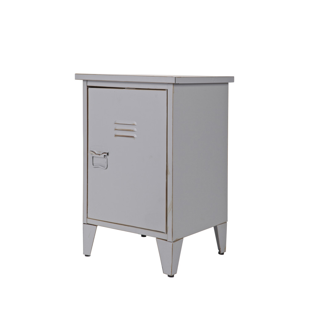table de chevet metal table de chevet enfant maarten en m tal gris tourterelle table de chevet. Black Bedroom Furniture Sets. Home Design Ideas