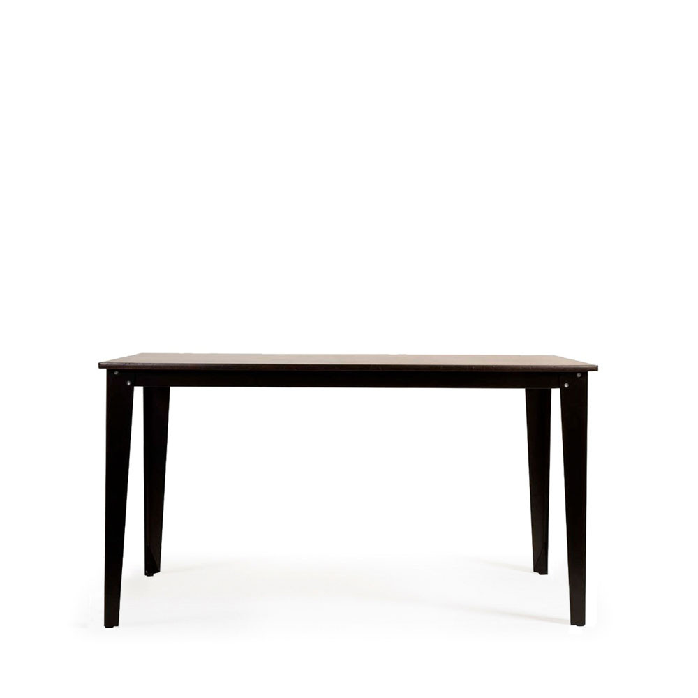 Table manger vintage bois et m tal scuola par drawer for Table a manger noir