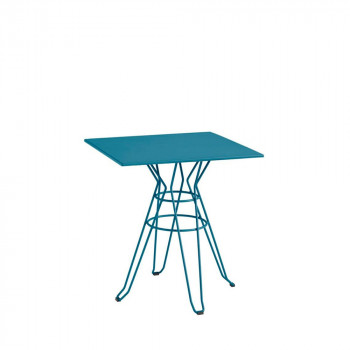 Table de jardin design Alameda 90x90 blanche