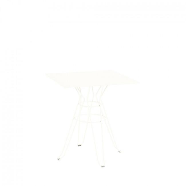 Table de jardin design Alameda 90x90 blanche