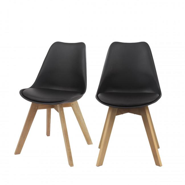 Lot de 2 chaises design Ormond Log Noir