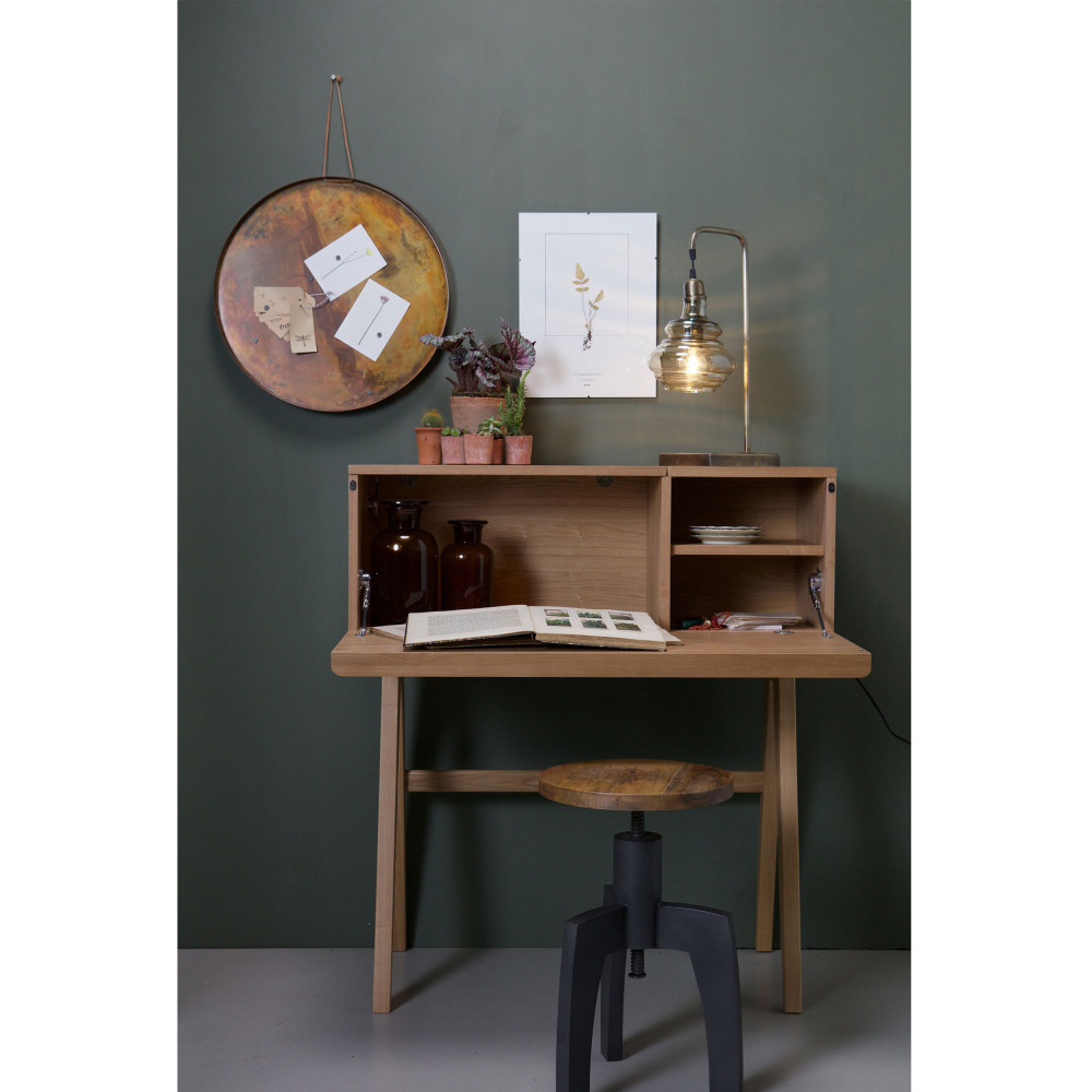 Tabouret industriel m tal et bois by drawer - Bureau industriel metal et bois ...