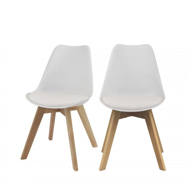 Lot de 2 chaises design Ormond Log blanc