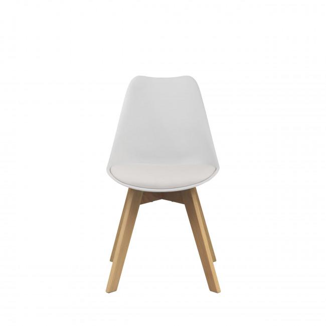 Chaise Ormong log en coloris blanc