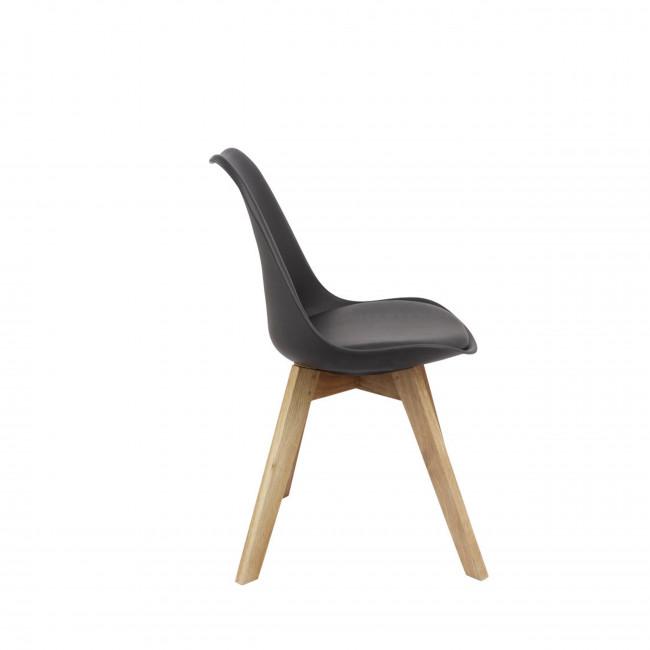 Chaise Ormond Log en noir