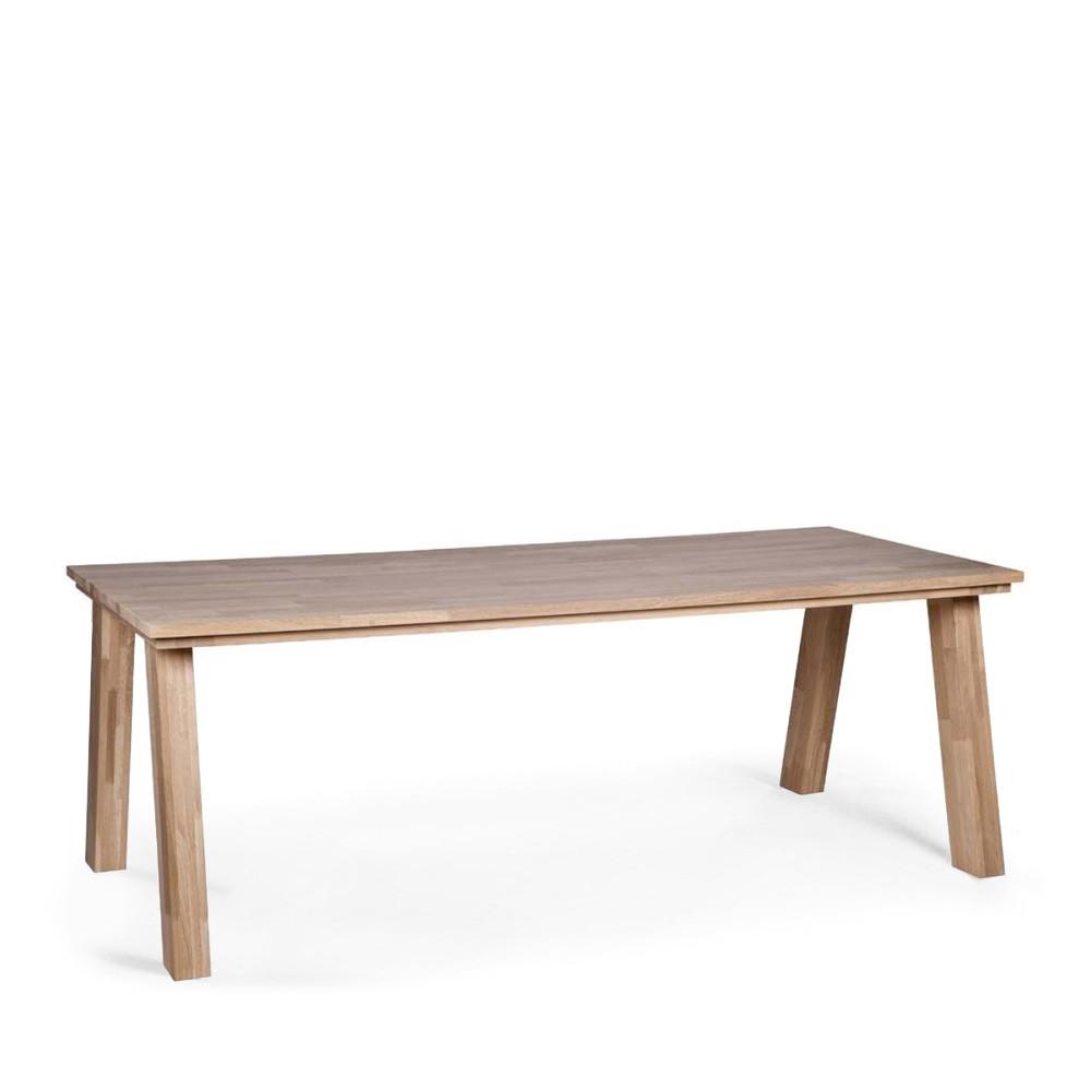 grande table en ch ne massif fsc constantin par drawer. Black Bedroom Furniture Sets. Home Design Ideas