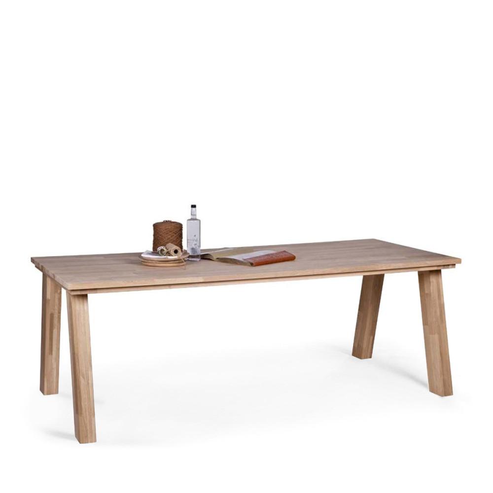 Grande table en ch ne massif fsc constantin par drawer - Table a manger en chene ...