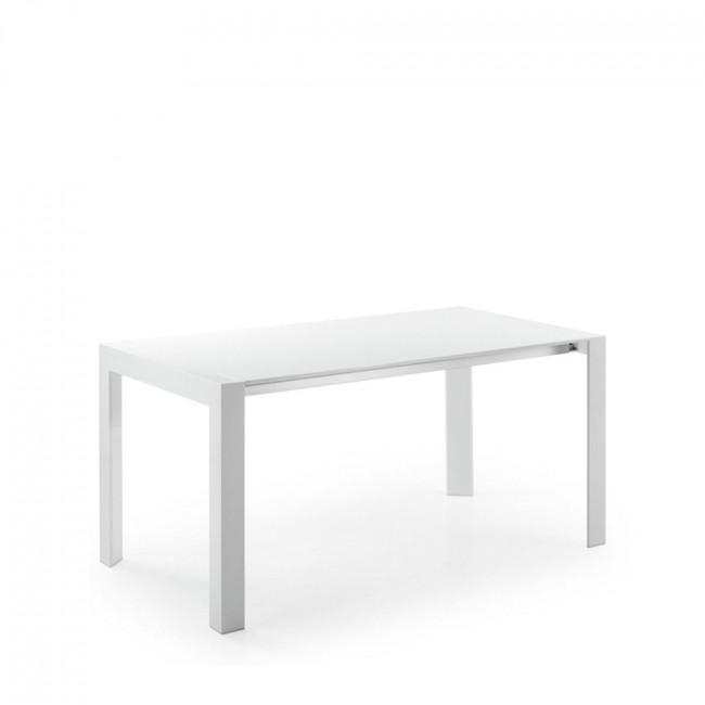 Table àˆ manger extensible laquŽée blanche 130-210 Newport