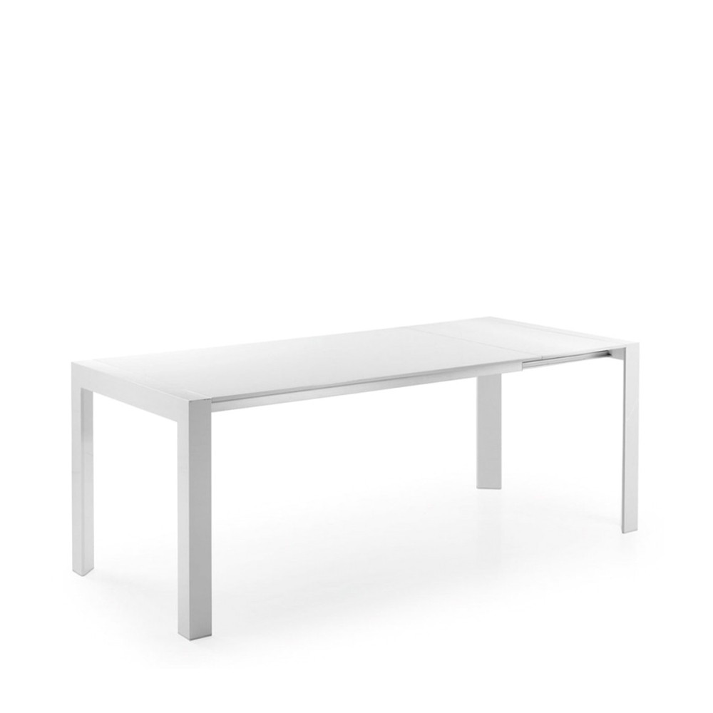 Table manger blanche laqu e newport extensible par drawer for Table a manger extensible