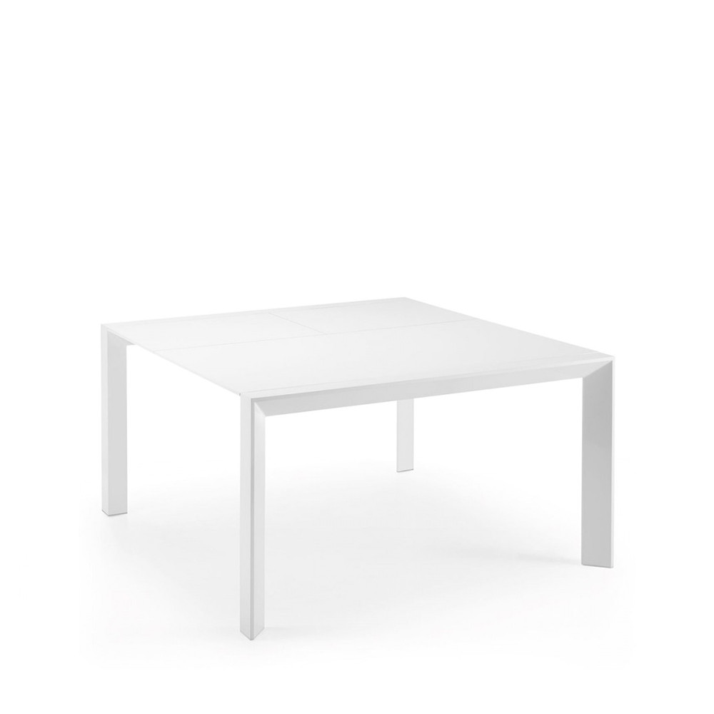 Table manger blanche laqu e newport extensible par drawer for Table a manger blanche design