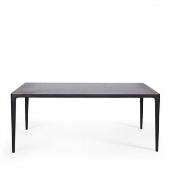 Table à manger rectangulaire en frêne noir Troy