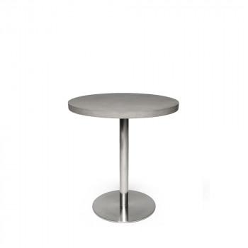 Table béton et acier ronde Ø70cm Bistro