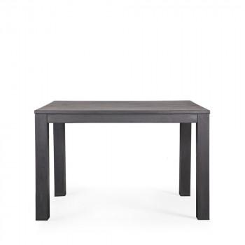Table à manger en chêne noire 130x130 Tygo