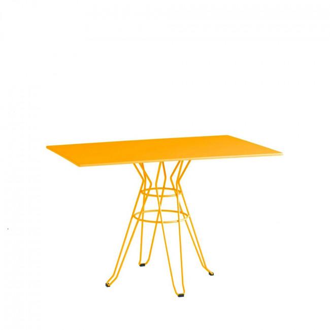Table de jardin design métal rectangle 110x70 Alameda blanche