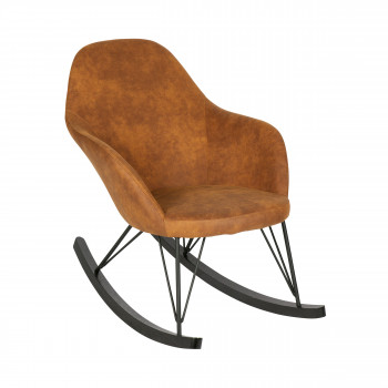 Rocking chair vintage Rock cognac