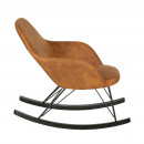 Rocking chair vintage Rock cognac côté