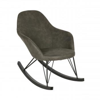 Rocking chair vintage Rock noir