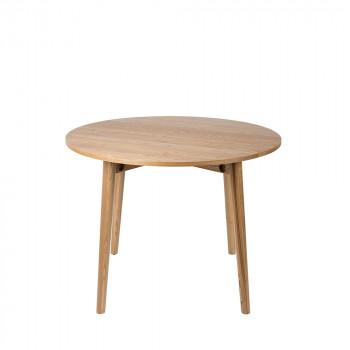 Table à manger ronde pliante en bois Foldy 100