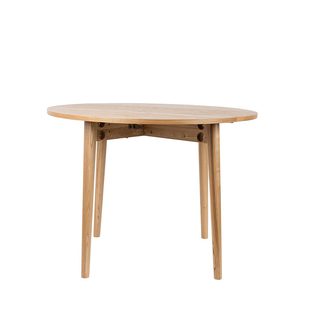 Table manger ronde pliante en bois foldy 100 for Table a manger bois