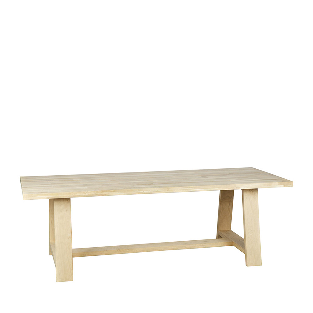 Table A Manger Chene Pieds Forme Treteau Square By Drawer