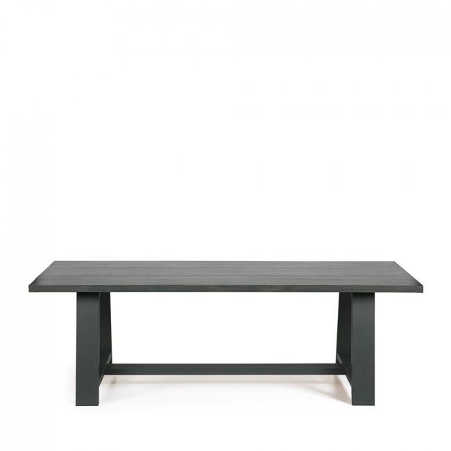 Table à manger chêne pieds forme tréteau Square