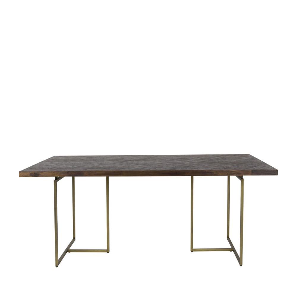 chevrons et bois manger Dutchbone à laiton CLASS Table Y6vgybf7