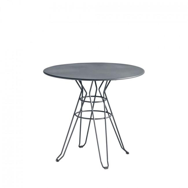 Table de jardin design métal ronde Ø110cm Alameda
