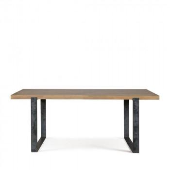 Table à manger en chêne et métal Largo