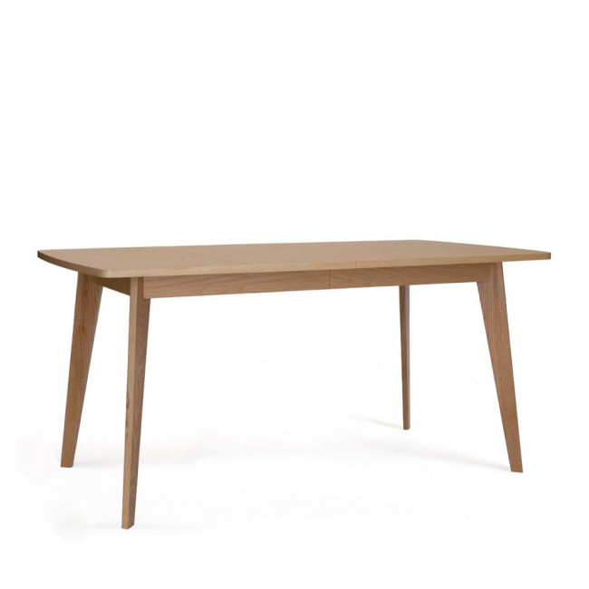 Table manger scandinave en bois massif by drawer for Table scandinave en verre