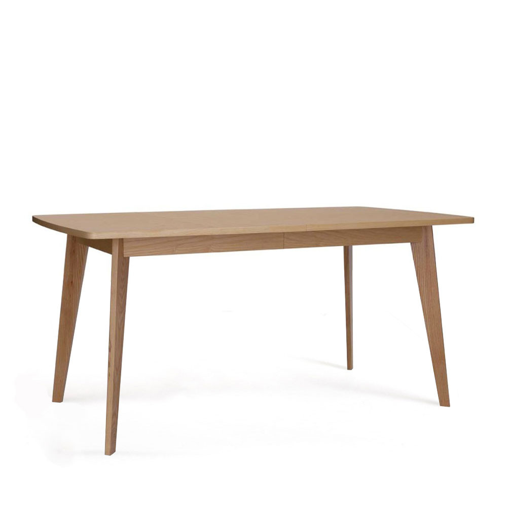 Table manger scandinave en bois massif by drawer for Table extensible en solde