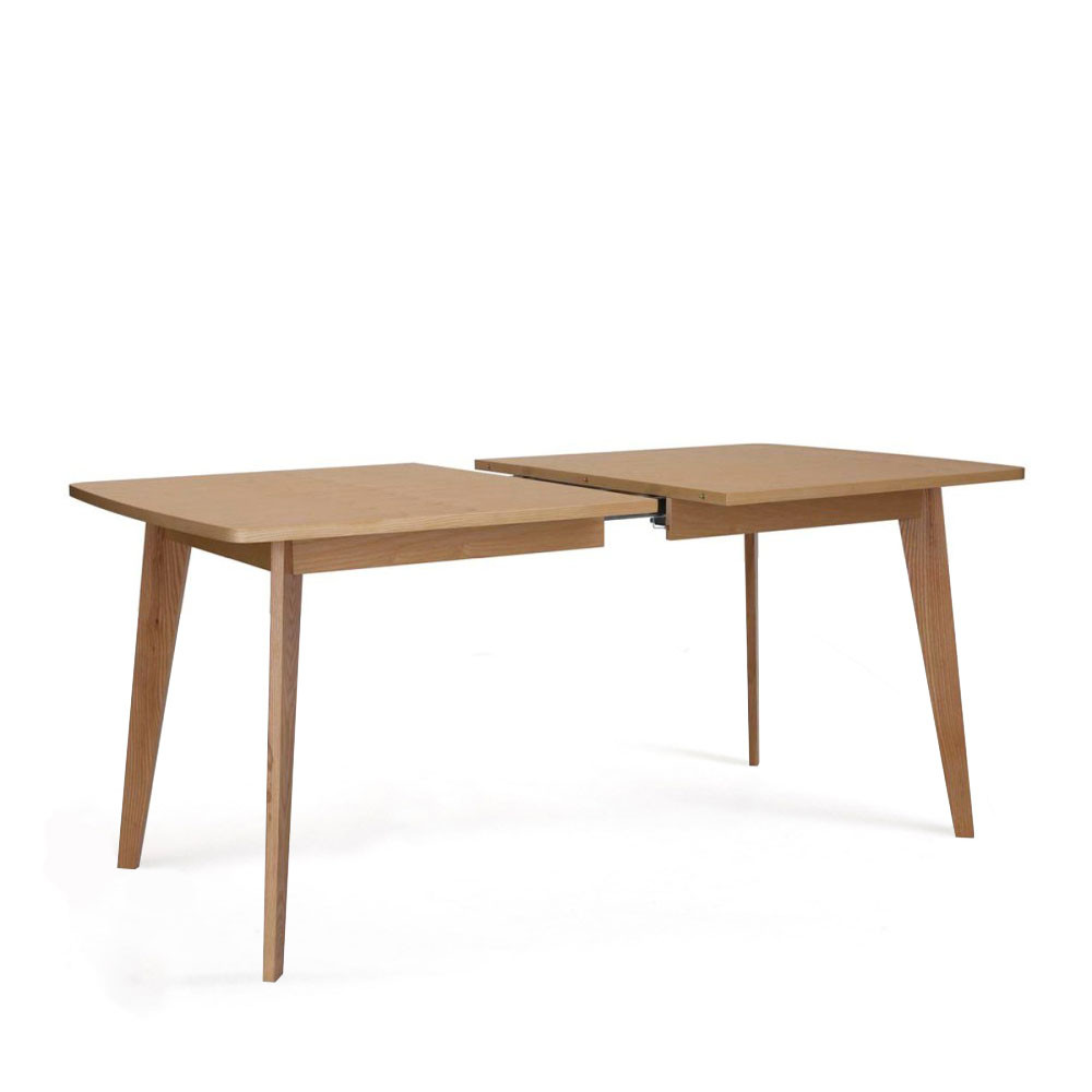 Table manger scandinave en bois massif by drawer for Table manger extensible
