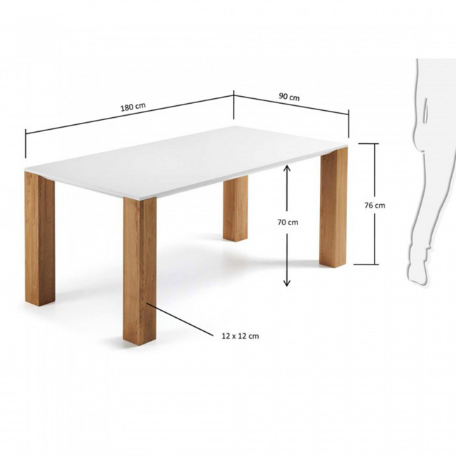 Table à manger contemporaine en bois Zoé