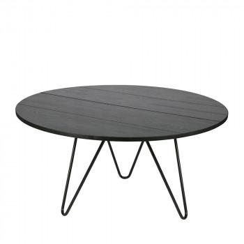 Table à manger ronde bois et métal Circle