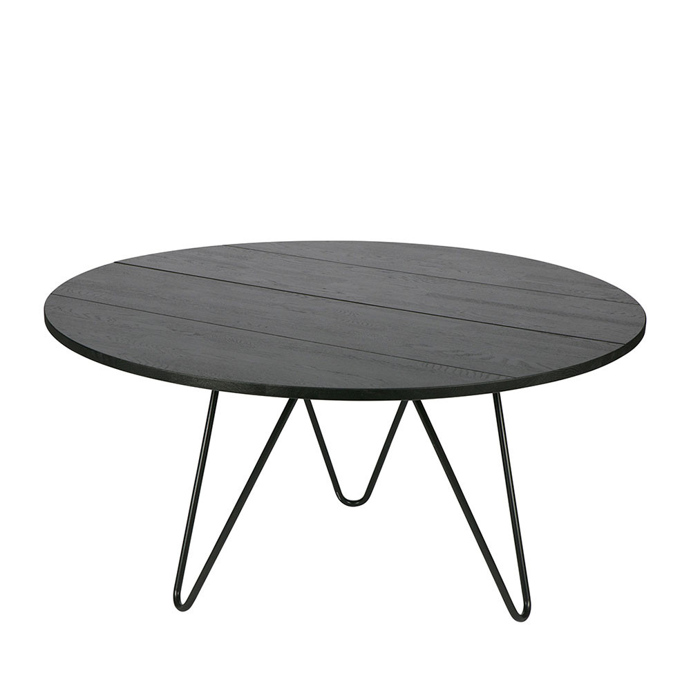 table manger ronde bois et m tal circle bu drawer. Black Bedroom Furniture Sets. Home Design Ideas