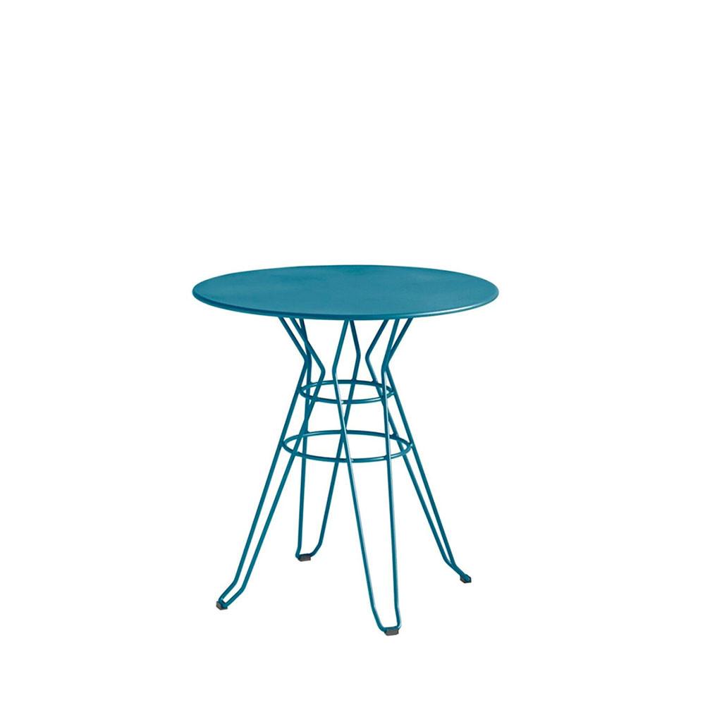 table de jardin ronde metal maison design. Black Bedroom Furniture Sets. Home Design Ideas