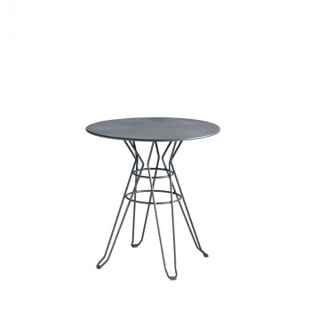 Table de jardin design Alameda D90 gris anthracite