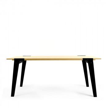 Table design 180x78cm switch large noir