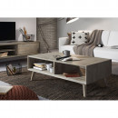 Table basse rectangle bois massif gris clair Sam