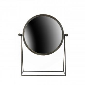 Miroirs ronds x3 en m tal dor wilton par for Miroir a poser par terre
