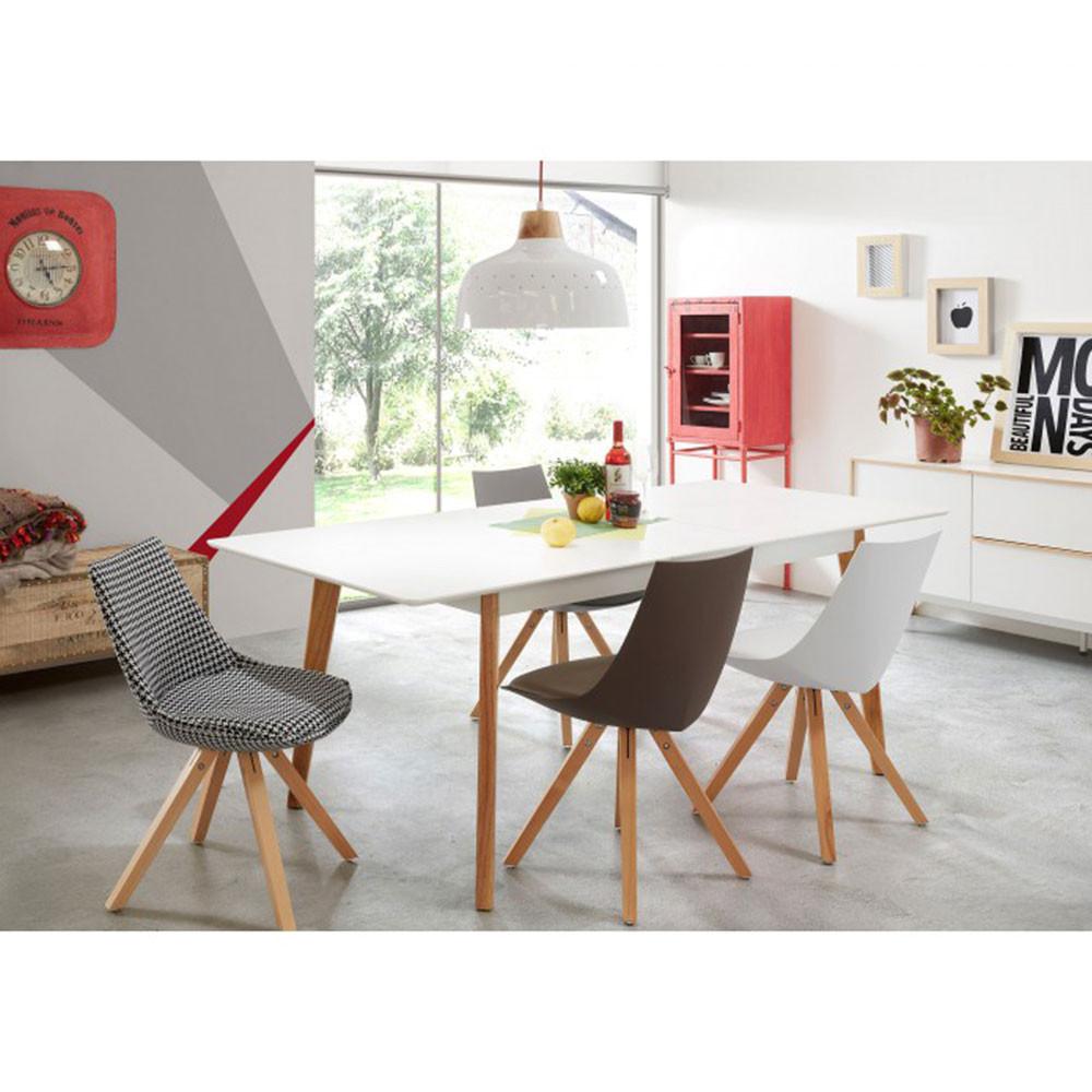 table manger extensible laqu blanc brand by drawer. Black Bedroom Furniture Sets. Home Design Ideas