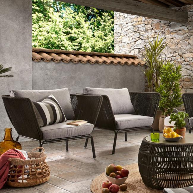 Fauteuil métal et corde indoor/outdoor Vernon