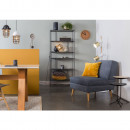 Fauteuil lounge tissu Lazy M Bleu pastel
