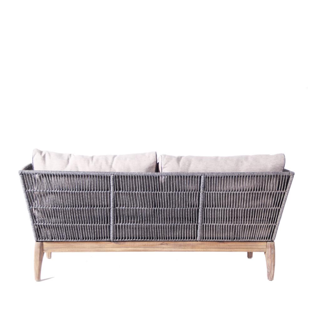 Canap 3 places de jardin bois et corde nokor by drawer - Canape 3 places fauteuil ...