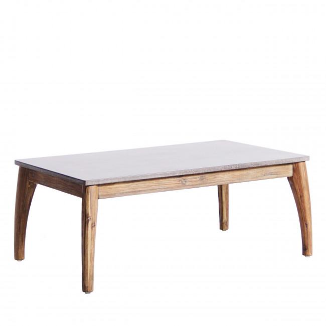Table basse de jardin bois et superstone Nokor