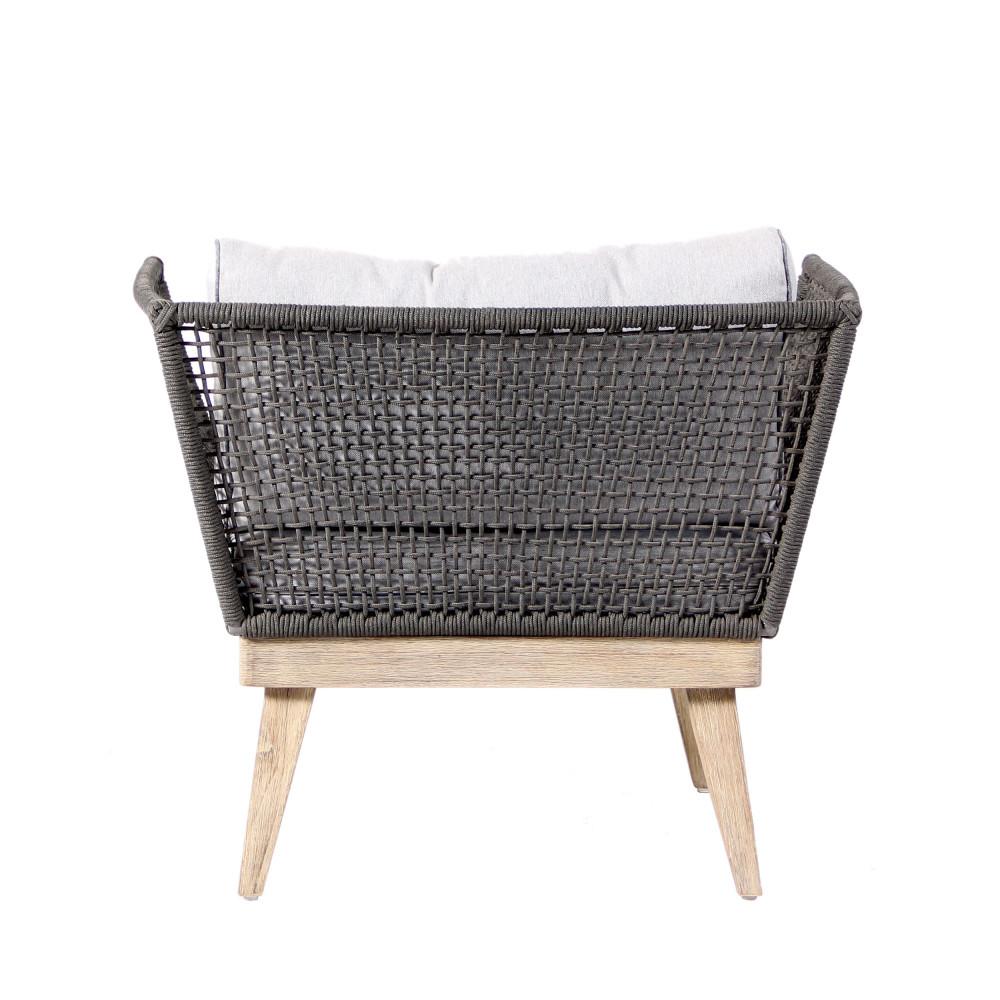 Lot de 2 fauteuils de jardin bois et corde m kong by drawer - Fauteuil jardin bois ...