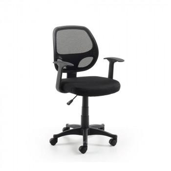 Chaise de bureau pivotante à roulettes Atta