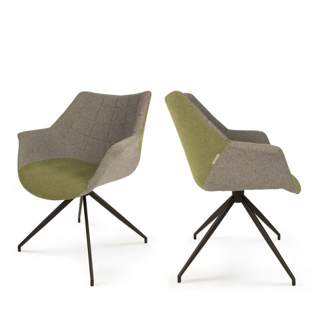 Lot de 2 fauteuils design Doulton vert